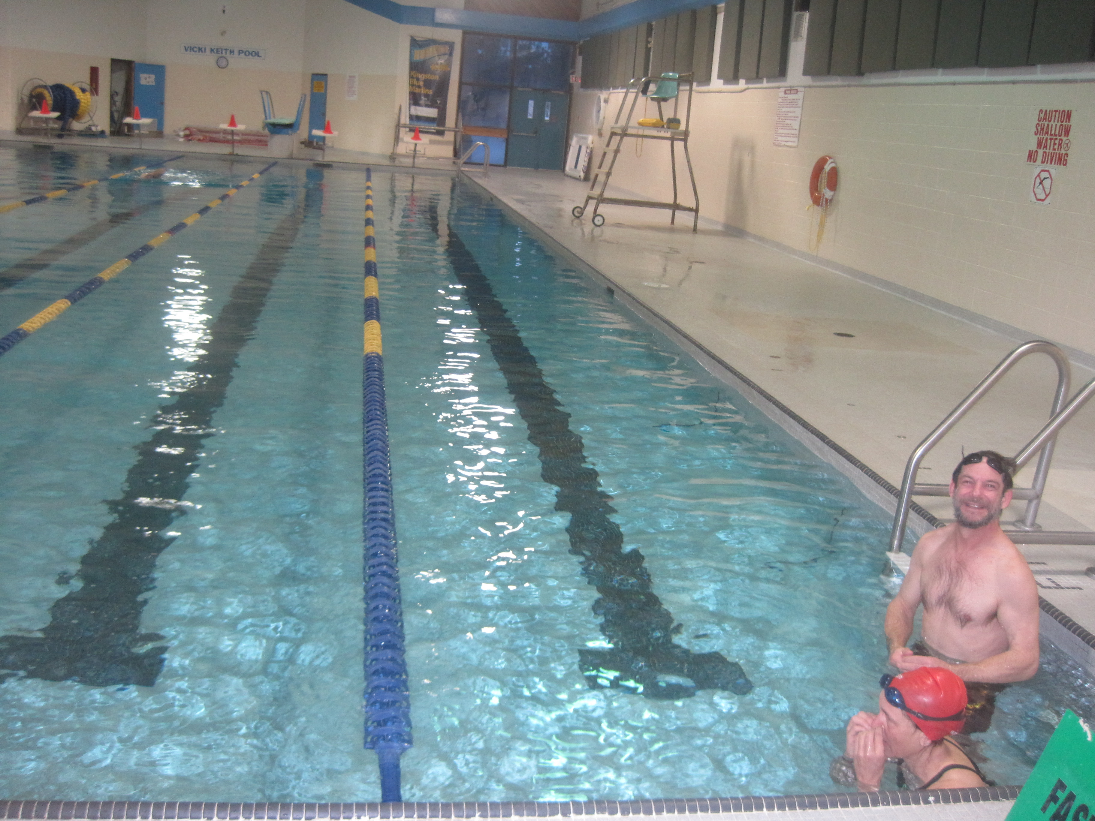 EARLY SWIM IN THE FAST LANE WITHOUT VINCE
