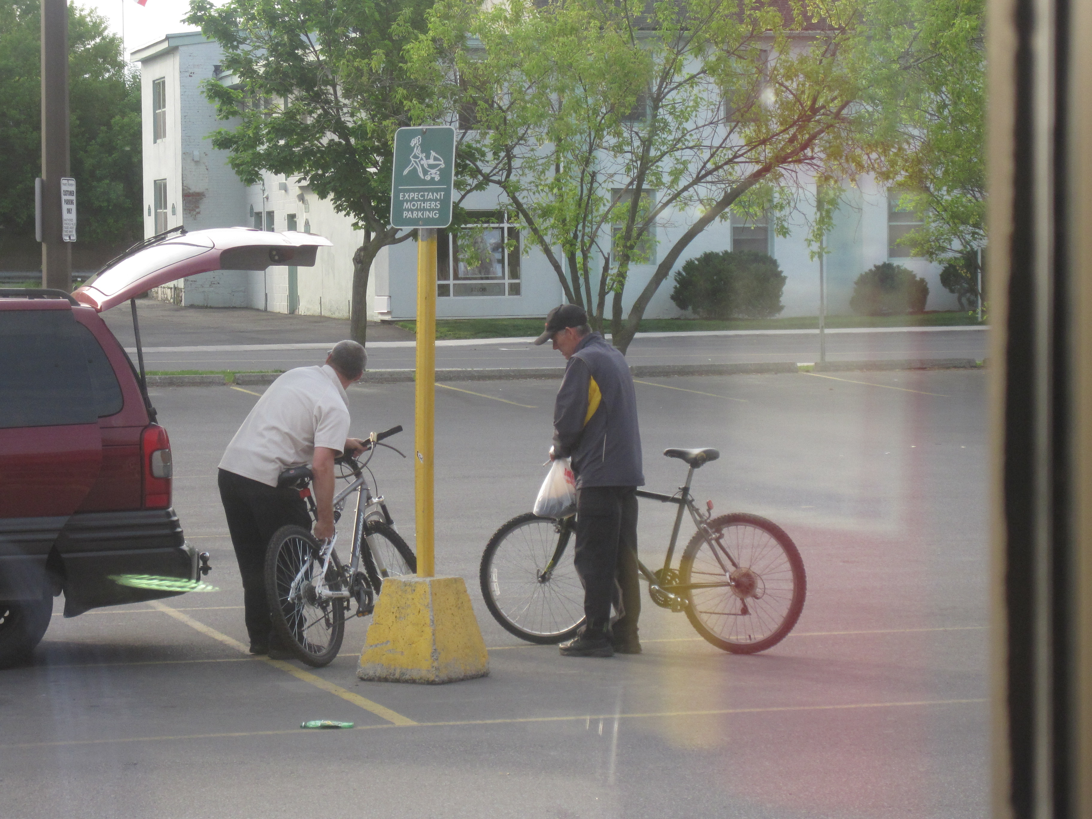 SATURDAY GROCERIES ON A LATE JUNE MORNING (and an unstolen bike?)