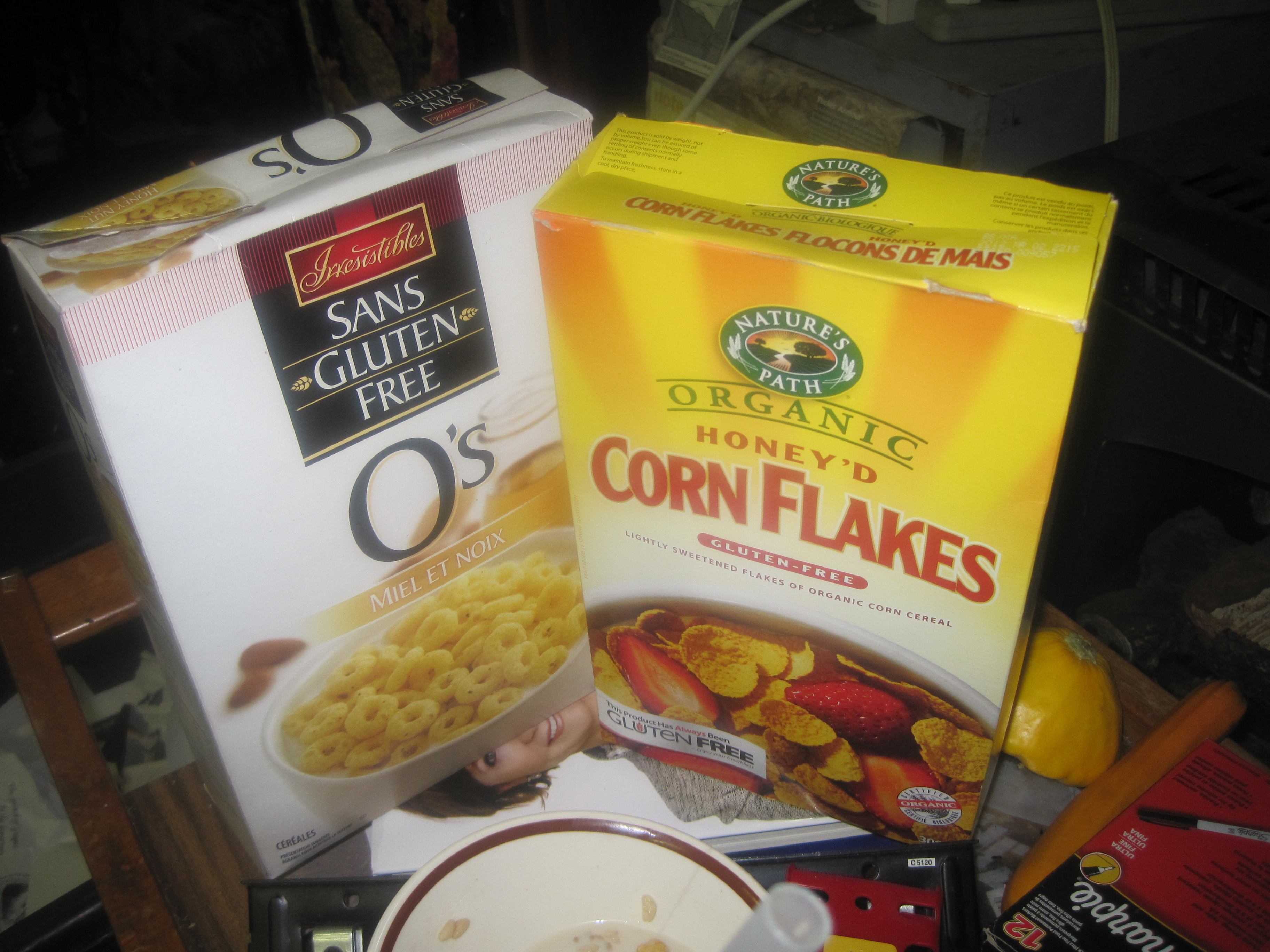 EATING WHILE CELIAC-COMFORTS OF COLD CEREAL (After all these years)