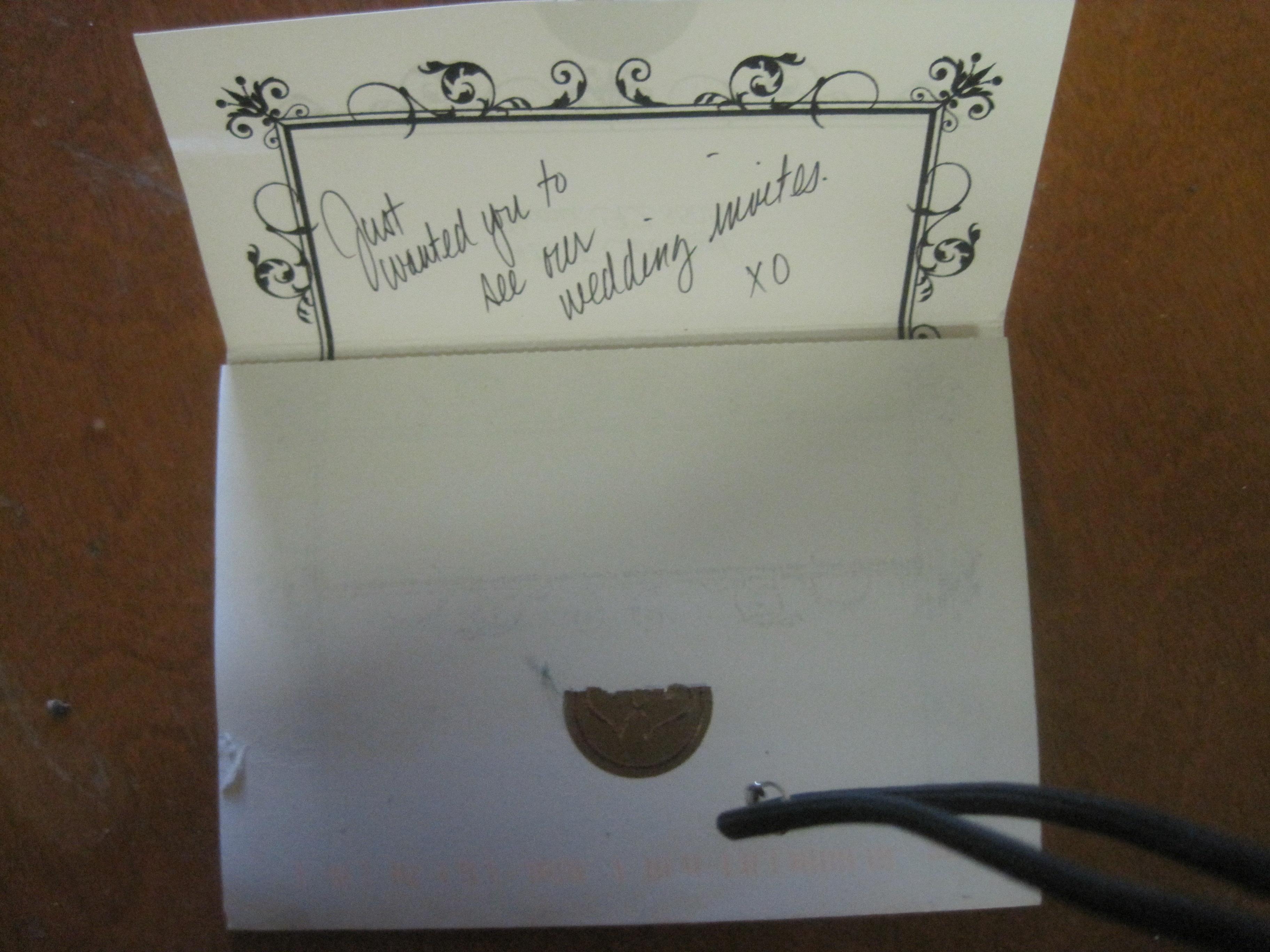 WEDDING INVITATION SENT TO SUPERMARKET - OUR ADDRESSES TOO SIMILAR